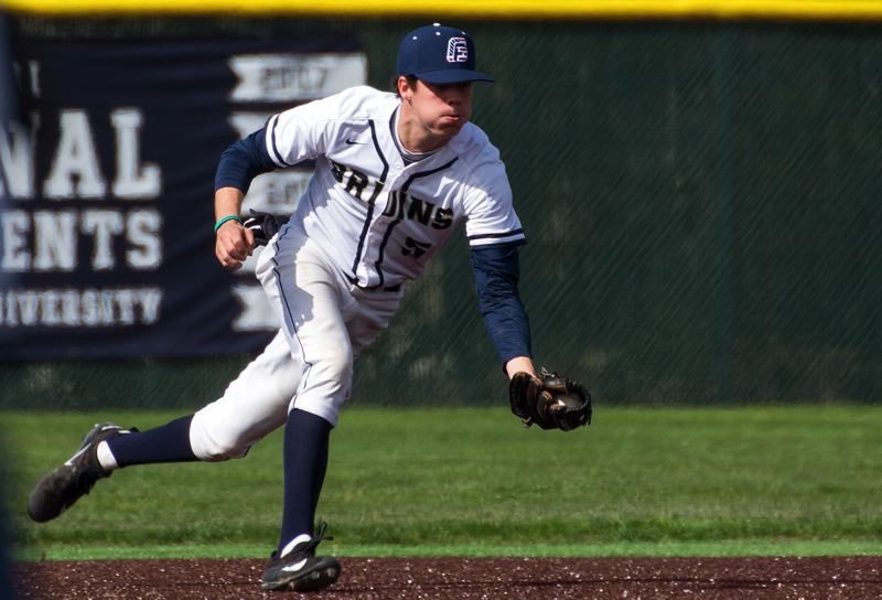 COURTESY GEORGE FOX ATHLETICS - After taking over at shortstop in George Foxs third game of the 2017 season, Matt Voelzke grew to love his new defensive position and flourished there.