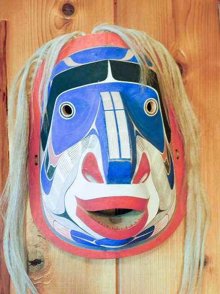 ESTACADA NEWS PHOTO: EMILY LINDSTRAND - The Hoyt's collection includes a variety of masks, some of which were worn during the Kwakwakawakw winter dance