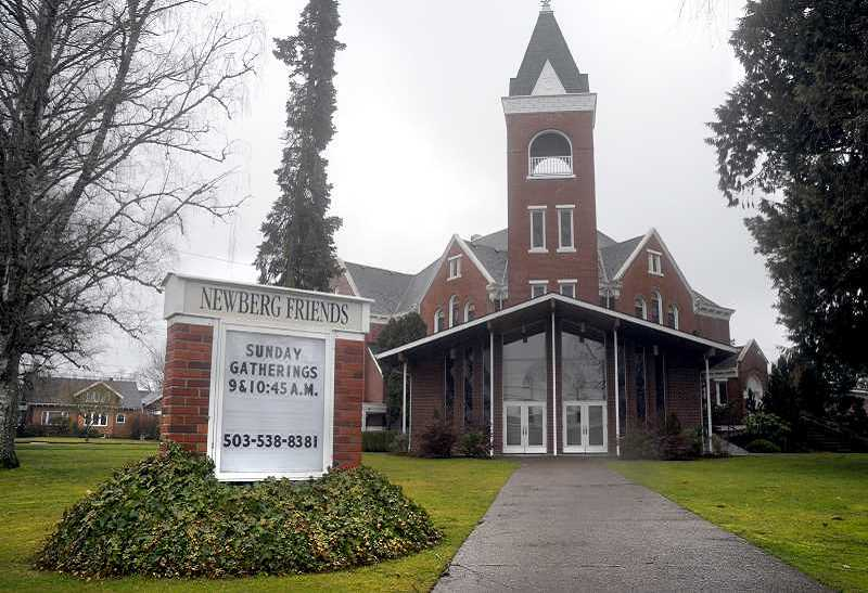 GRAPHIC FILE PHOTO - Newberg Friends Church is among the four Friends denominations in Newberg that will be affected by a split over differing views on human sexuality.
