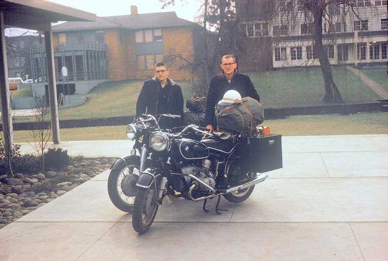 SUBMITTED PHOTO - From left, David Yaden and Keith Thye pause before embarking upon their overland journey to South America in 1963.