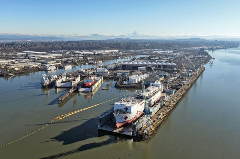 PORTLAND TRIBUNE FILE PHOTO - Negotiations are continuing with over 150 potentially responsible parties to pay for cleaning up and mitigating the pollution damage in the Portland Harbor Superfund site.