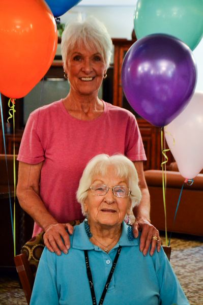 POST PHOTO: BRITTANY ALLEN - Sharlene Hack visits her mother Alma Rinear regularly, including a special visit to celebrate her 101st birthday.