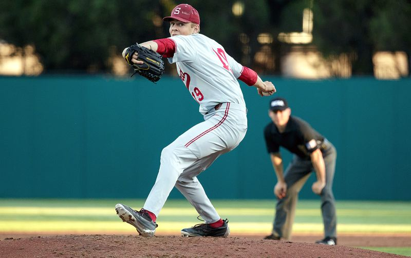 COURTESY STANFORD ATHLETICS - While he primarily focused on his play as a third baseman in high school, West Linn's Will Matthiessen found his first D1 success as a relief pitcher at Stanford.