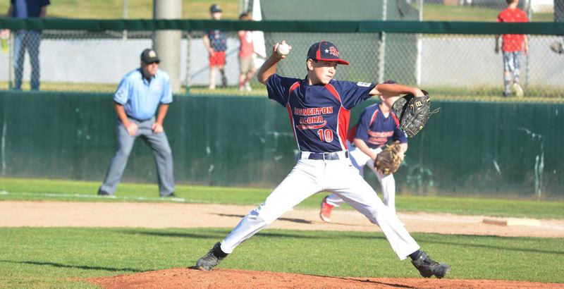 TIMES FILE PHOTO - Beaverton-Aloha pitcher Kaden Kingsbury and the 12U All-Stars have been on a tear at the state tournament this week.