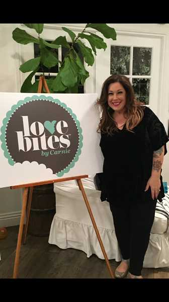 COURTESY OF TIFFANY MILLER - Carnie Wilson recently got to plug her new Love Bites by Carnie product line during an appearance on the Real Housewives of Beverly Hills last winter.