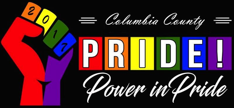 The image for the first Columbia County Pride festival and parade