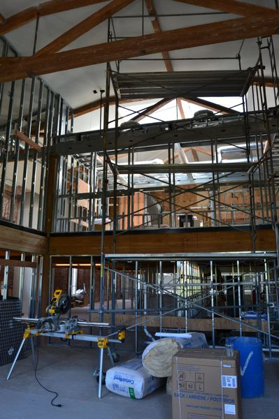 PAMPLIN MEDIA GROUP: JULES ROGERS - Right now the firm is working out of temporary offices on the third floor during the renovation, which has an expected completion date of this autumn.