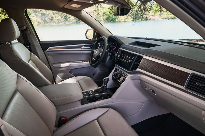 VOLKSWAGEN OF AMERICA - The interior design of the 2017 Volkswagen Atlas is clean and efficient, with easy to find and understand controls.