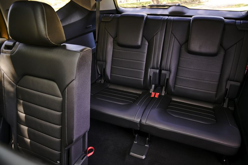 VOLKWAGEN OF AMERICA - The third row of seats in the 2018 Volkswagen Atlas are roomy and easy to reach.