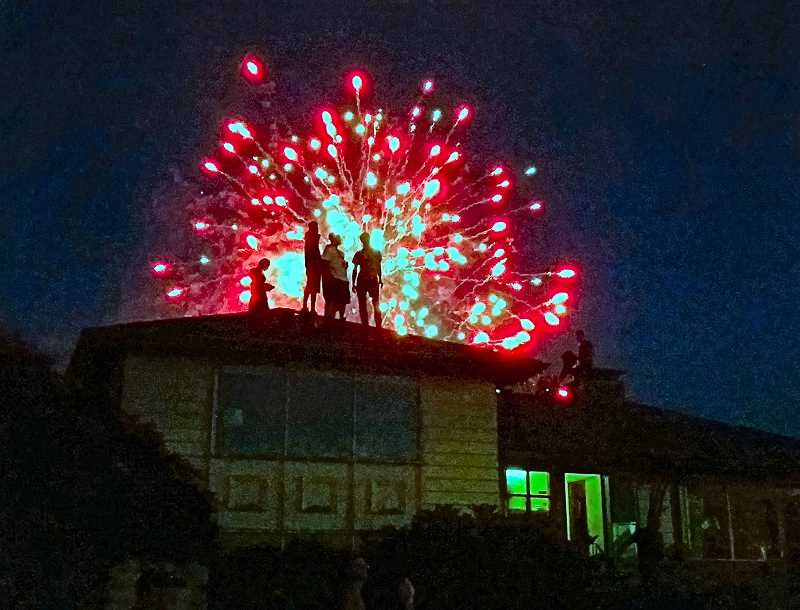 GEORGE BENGTSON - Here are the private fireworks photographed on Sellwood Boulevard on July 4 by Mr. Bengston.