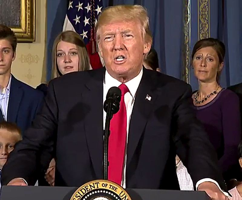 COURTESY PHOTO: WHITE HOUSE - Less than 40 percent of Oregon and Washington residents have a positive opinion of President Trump, according to a new Gallup Poll released Monday, July 24.
