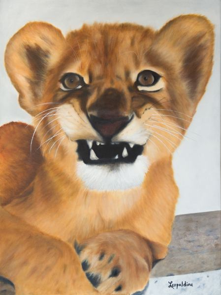 COURTESY PHOTO - Leo Brew will showcase her paintings of cats at Sequoia Gallery.