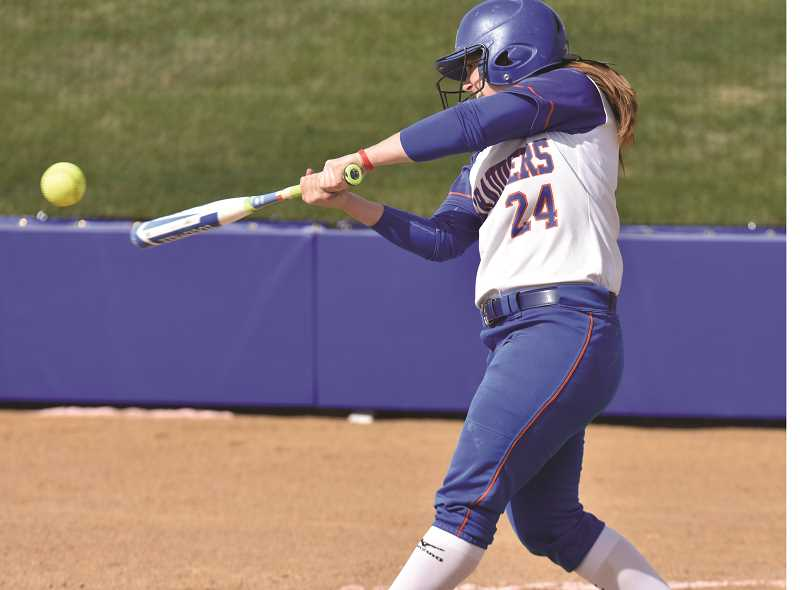 SUBMITTED PHOTO: UNIVERSITY OF MARY ATHLETICS - Canby graduate Colleen Crutchfield made the All-Northern Sun Conference Second Team.