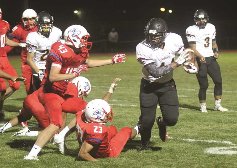 PIONEER FILE PHOTO - Madras opens its 2017 season on the road at The Dalles Sept. 1. Last season, the White Buffalos battled for three and a half quarters, before The Dalles eventually won 14-0.