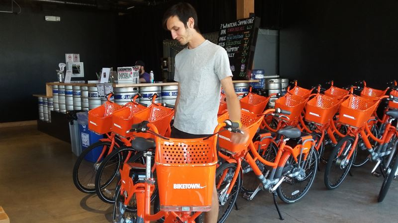PAMPLIN MEDIA GROUP: OLIVIA SANCHEZ - Cole Lalomia, from the nonprofit Community Cycling Center, led a workshop for Biketown for All.