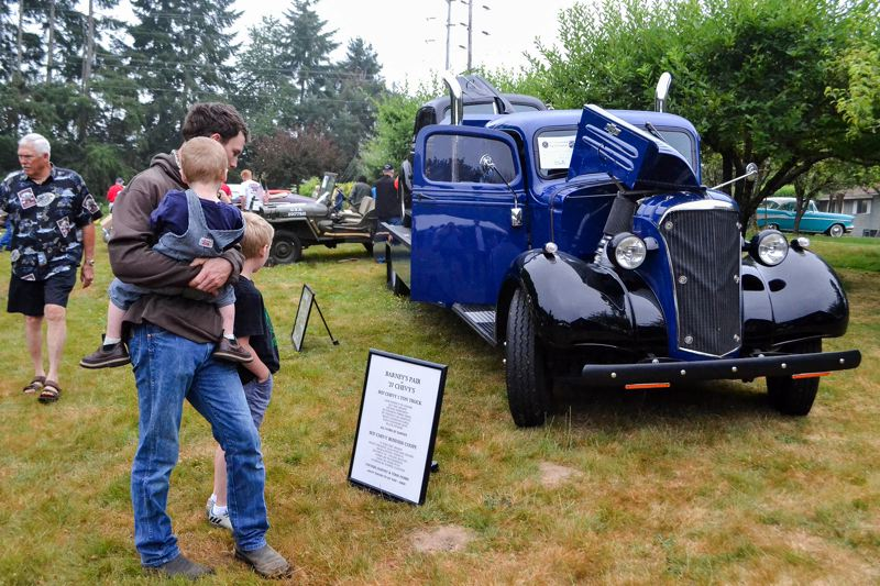 POST PHOTO: BRITTANY ALLEN - The Sandy Kiwanis 60th annual Fly-In Cruise-In brought in 265 car owners and their vehicles, Sunday, July 23, at McKinnon Park.