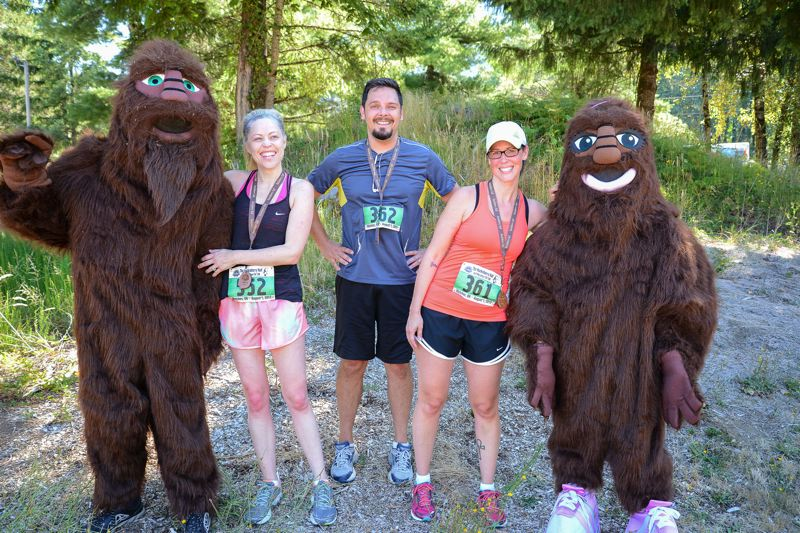 CONTRIBUTED PHOTO - Runners appreciate the scenery and on-road aspect of the Huckleberry Half Marathon in Welches.