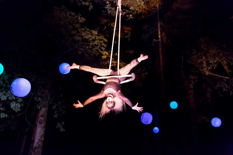 SUBMITTED PHOTO: STEPHEN SHAW - Dont miss A-WOL Dance Collectives Art in the Dark production of aerial dance in the trees at Mary S. Young Park Aug. 4 through 13.