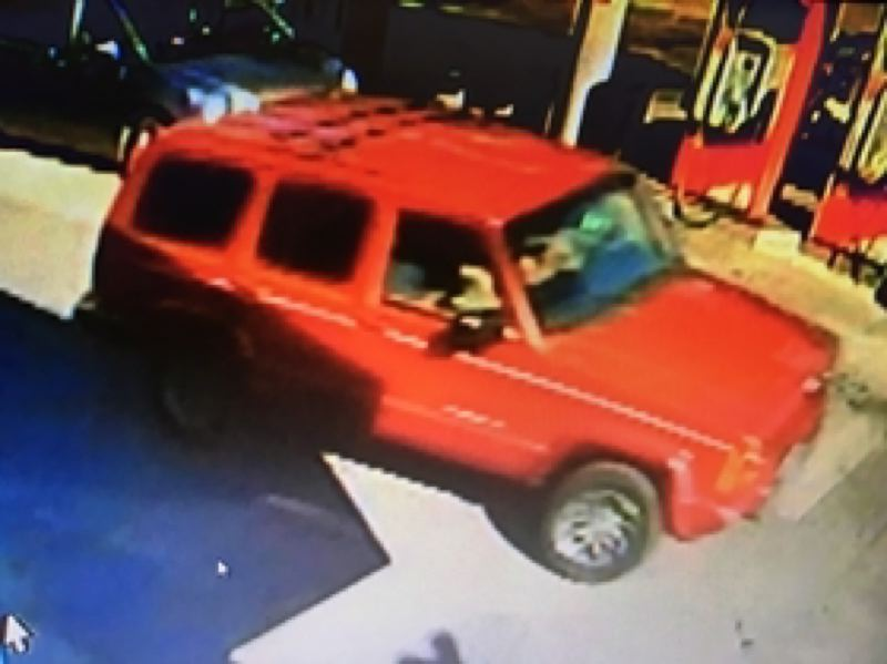 PHOTO COURTESY OF THE ST. HELENS POLICE DEPARTMENT - St. Helens Police Department is asking for help identifying the driver of this vehicle that was involved in a hit and run incident on Tuesday, July 25 at the Skinny's Texaco gas station. No injuries were reported.
