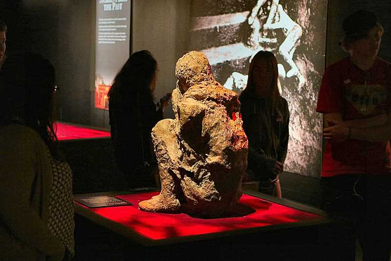 DAVID F. ASHTON - Body casts of some of the Pompeii residents who were buried in volcanic ash make a powerful conclusion to the exhibition.