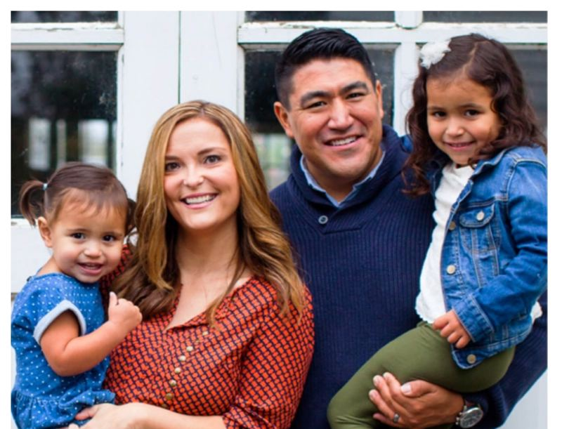 PHOTO COURTESY OF AARON MORENO - Aaron Moreno, pictured with (left to right) daughter Ayla, 2, wife Mary, and daughter Malia, 4, has joined the adminstration at Milwaukie High School as vice principal and athletic director.