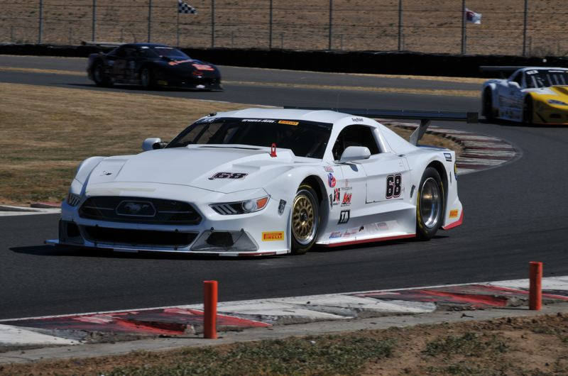 TRIBUNE PHOTO: JEFF ZURSCHMEIDE - Greg Pickett raced to victory in the first Trans Am race in Portland since 2009 on Sunday.