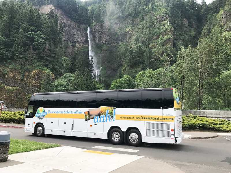 CONTRIBUTED PHOTO: ODOT - The Columbia Gorge Express could be a solution for the traffic problems at Multnomah Falls.