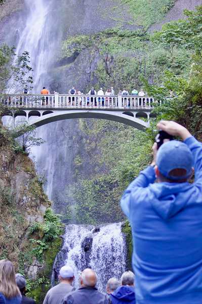 OUTLOOK PHOTO: CHRISTOPHER KEIZUR - Every year more than 3.6 million people visit Multnomah Falls — one of Oregons most popular sites.