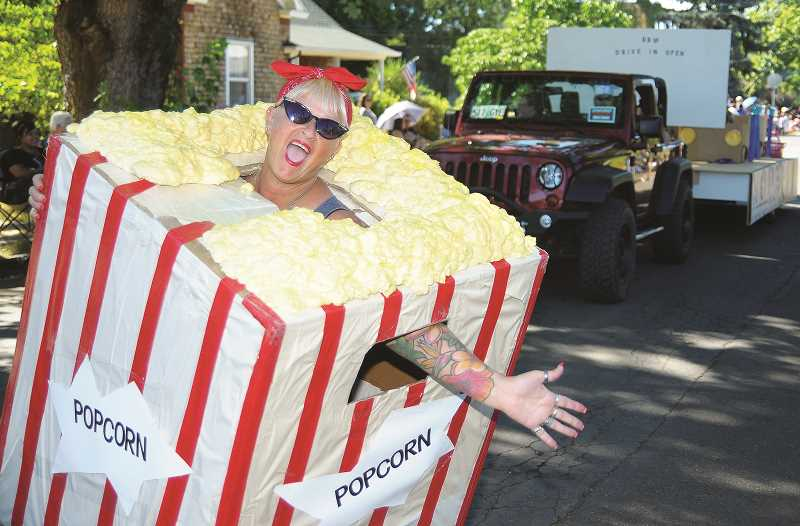 GARY ALLEN - A parade entry from Christopher's Choice, a drug awareness organization, proved to be a crowd favorite in the Grand Festival Parade in Newberg's southern blocks.