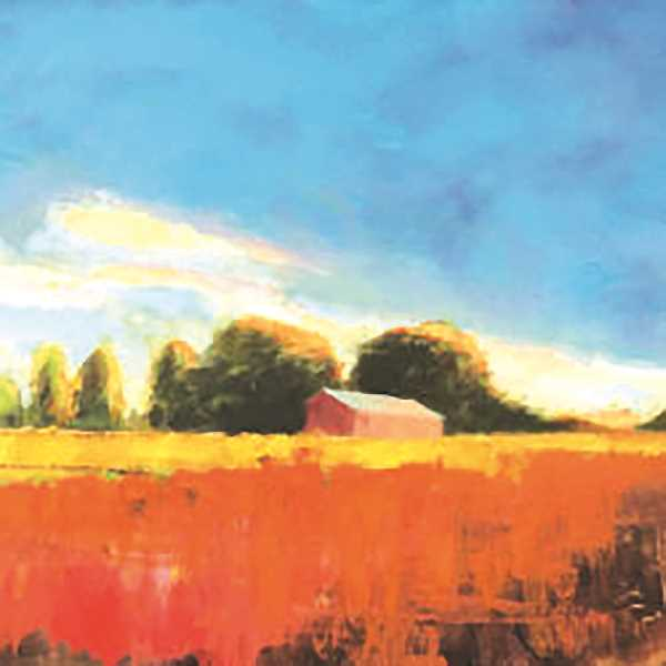 SUBMITTED IMAGE - Aurora-area wheatfield as depicted and drawn by local Aurora visual artist Matthew Eveleigh. The photo is on display in conjunction with tthe Aurora Arts Association's annual summer show, also part of Aurora Colony Days Aug. 11-13.