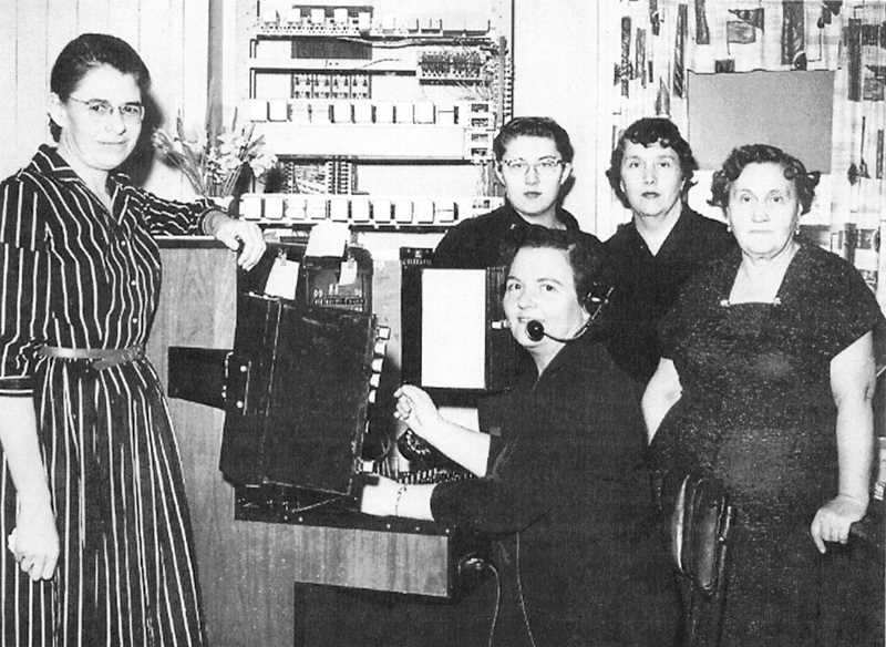 STOCK PHOTO - Canby Telephone operators take a break from the switchboards at the office in 1955.