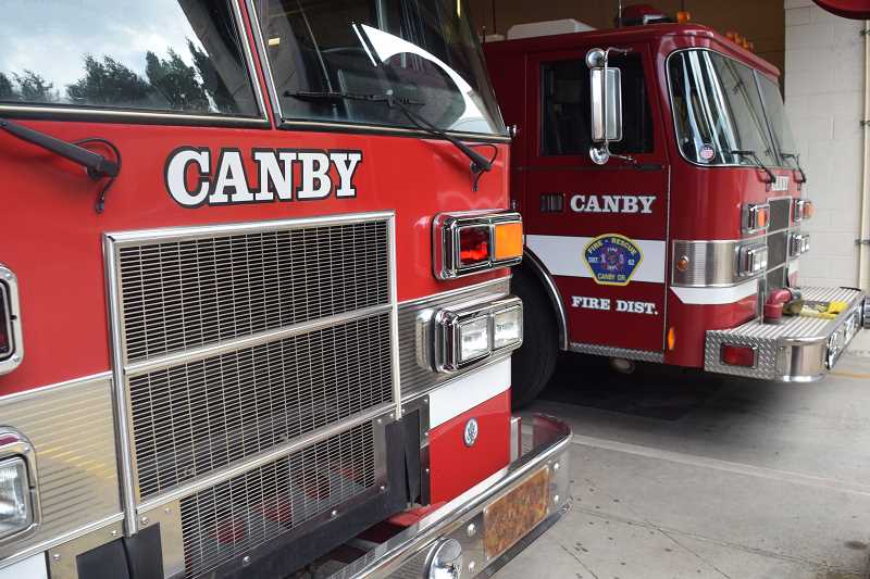 DANIEL PEARSON - Canby Fire District engines.