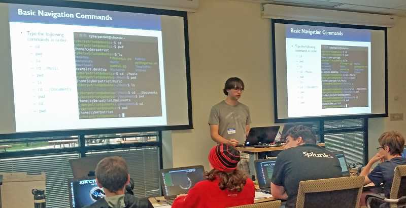 SUBMITTED PHOTO: COURTESY OF PACSTAR - LOHS alumnus Zander Work, Class of 2017, taught classes at the PDX Cyber Camp this year and when the camp debuted in 2016.
