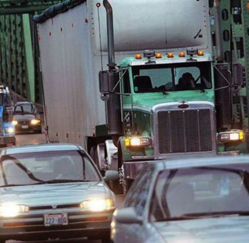 PORTLAND TRIBUNE FILE PHOTO - Traffic backed up on the Interestate 5 bridge connecting Oregon and Washington