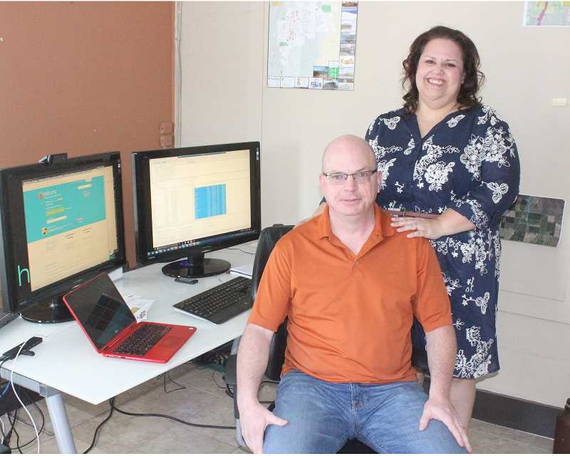SUSAN MATHENY/MADRAS PIONEER - Michael and Tracey Leslie of Howling Boy Tech can help you with computer technology.