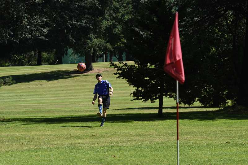 SUBMITTED PHOTO  - FootGolf is a popular sport, which can be played at Lake Oswego Public Golf Course. A new league is being formed; sign your team up now.