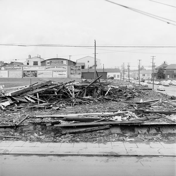 COURTESY: THOMAS ROBINSON - Vaughn Street's demise. Most wooden ball parks burned down or were torn down. Mass timber makers promise their buildings will be fire retardant and more permamanent.