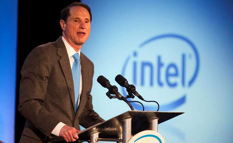 HILLSBORO TRIBUNE FILE PHOTO - U.S. Sen. Ron Wyden speaks at an event in 2010 at Intel.
