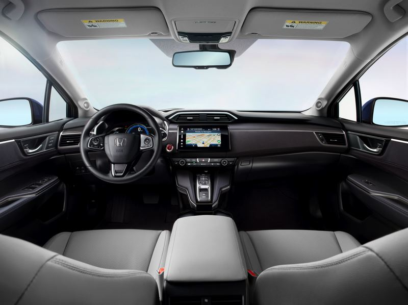 COURTESY HONDA - The interior of the 2017 Honda Clarity Electric is spacious and inlcudes many premium touches.