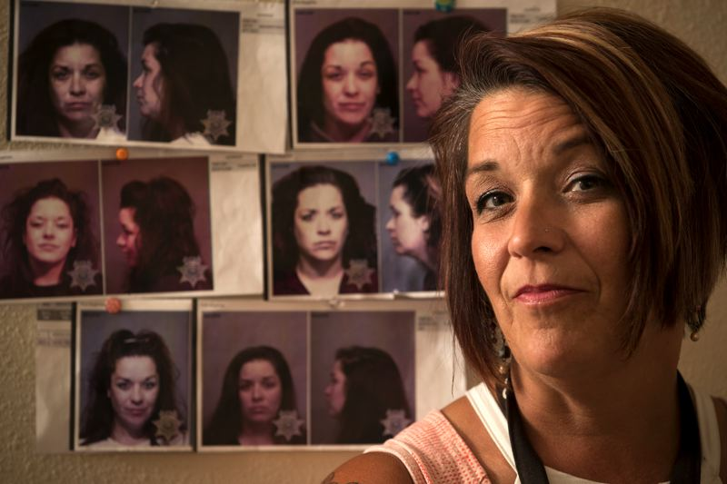 PORTLAND TRIBUNE: JAIME VALDEZ - Deena Castrejon keeps her old jailhouse mugshots behind her desk as a reminder of how far she's come, and to remind clients of how much they can change. Today Castrejon mentors felons released from prison for nonprofit Bridges To Change.