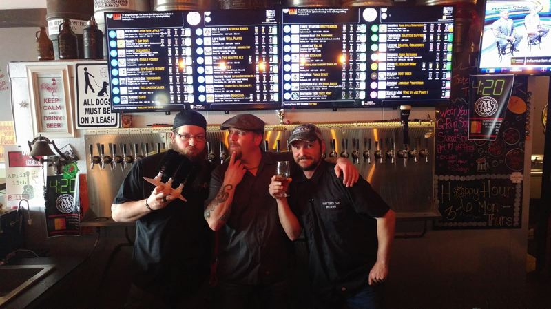 COURTESY PHOTO - Opening soon in its new location, Shattered Oak Brewing's crew features (from left) Ryan Jeske, Dustin Pugh and owner/brewmaster Brandon Neldner.
