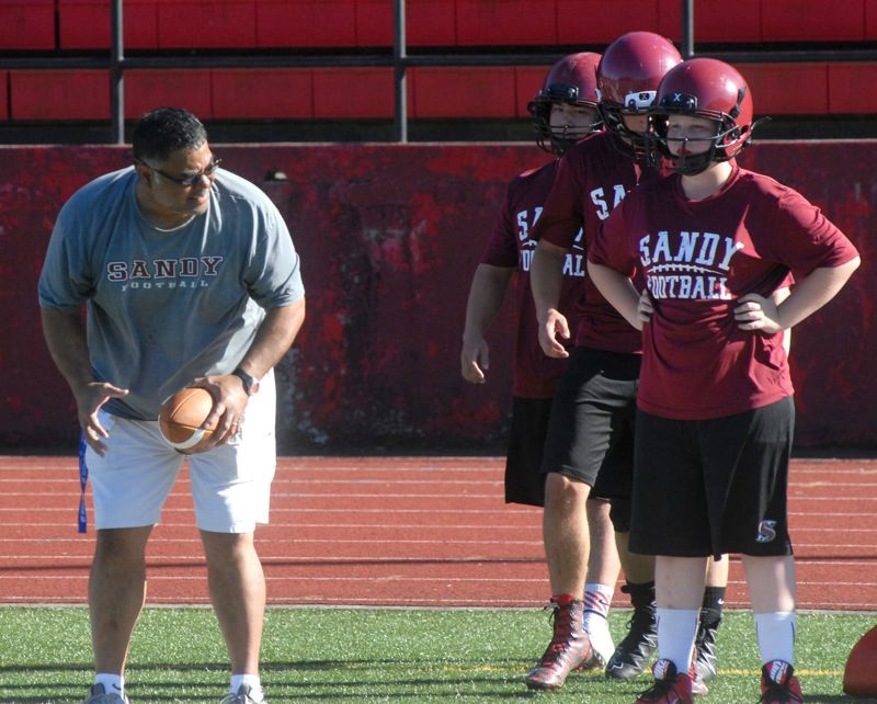 SANDY POST: MATT RAWLINGS - Sandy High football coach Joe Polamalu is encouraged by what hes seen from his team during the summers 7-on-7 season.