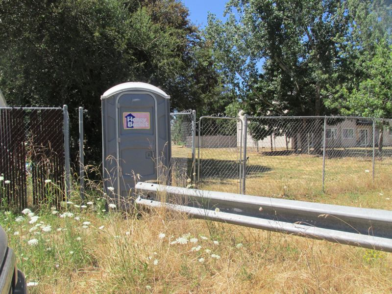 OUTLOOK PHOTO: TERESA CARSON - The only amenities at Lynchview Park are two portable toilets and some netless soccer goals.