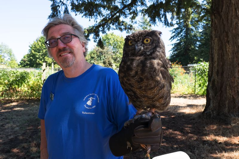 COURTESY PHOTO - Birds from The Audubon Society of Portland will fly in for the Nadaka festival and kids can dissect owl pellets (scat) to learn more about owls.