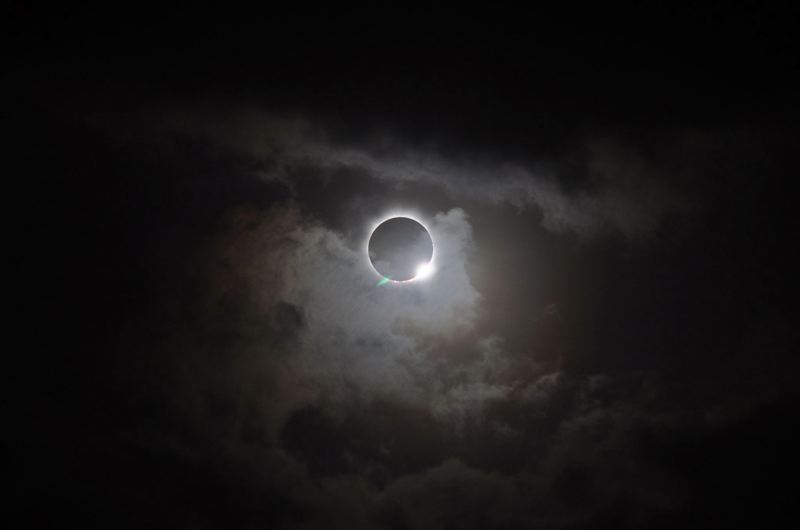 FILE - This photograph was taken during a total solar eclipse visible from the Southern Hemisphere in 2012. Parts of Oregon will experience the same phenomenon on Monday, Aug. 21.
