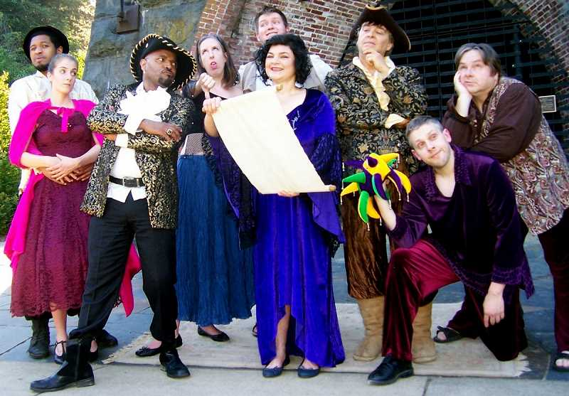 COURTESY PHOTO - The Masque Alfresco troupe, shown here in last summer's production of 'Trickster of Seville,' brings colorful costumes and comedy to its free shows each summer.
