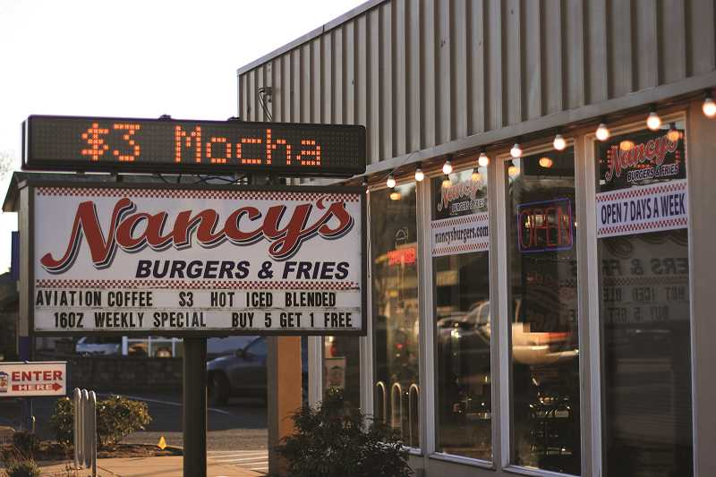 INDEPENDENT FILE PHOTO - The Woodburn location of Nancy's Burgers and Fries, originally planned to open this summer, is now expected to open in November. Pictured is the Keizer location.