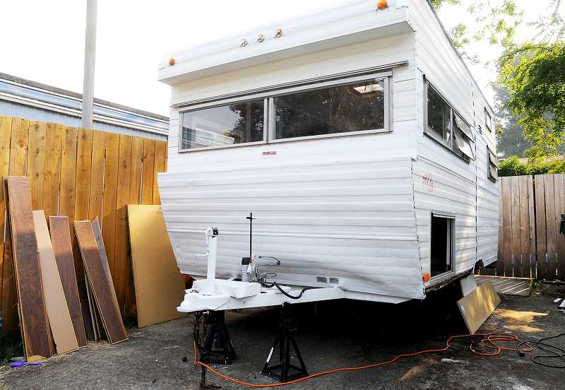GARY ALLEN - By the time it is completed, Jennifer Joy Loop and her husband will have undertaken extensive renovations to the aging travel trailer.