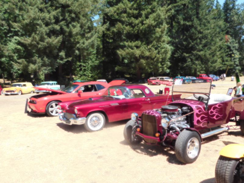 ESTACADA NEWS PHOTO: EMILY LINDSTRAND - Many cars were on display at the Old Time Cruise In to Estacada on Saturday, Aug. 5. The event was held at Timber Park.