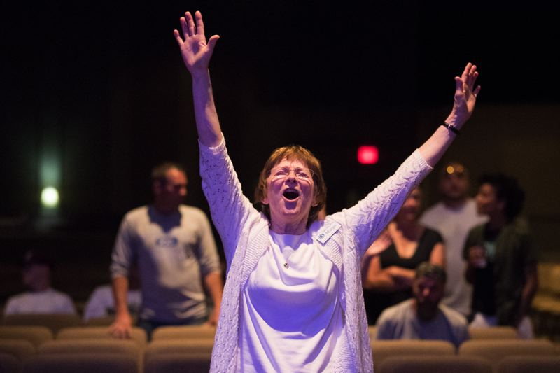 PORTLAND TRIBUNE: JAIME VALDEZ - Margot doesn't hold back as she prays at Hillsboro's Sonrise Church Light My Way service — the first large church service in the country to welcome registered sex offenders.